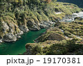 四国三郎こと吉野川、大歩危(おおぼけ)峡 シーズン中はラフティングが盛ん 19170381
