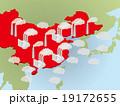 中国の大気汚染 イメージイラスト 19172655