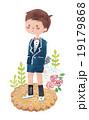 花束を持つ男の子 19179868