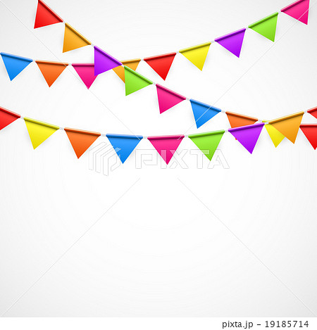 Party Background with Flags Vector Illustrationのイラスト素材 [19185714] - PIXTA