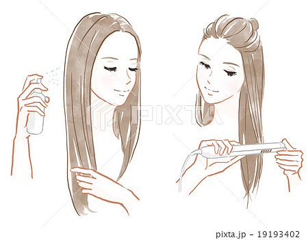 髪のセット 19193402