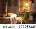 View of kitchen in lamp lights 19205880
