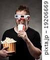 Man watching 3D movie 19206669