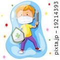 子供 子 バクテリアのイラスト 19214393