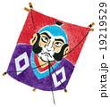 凧 年賀状素材 凧揚げのイラスト 19219529