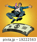 Business success businessman money trampoline 19222563