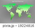 High detail light green colour world map. 19224816
