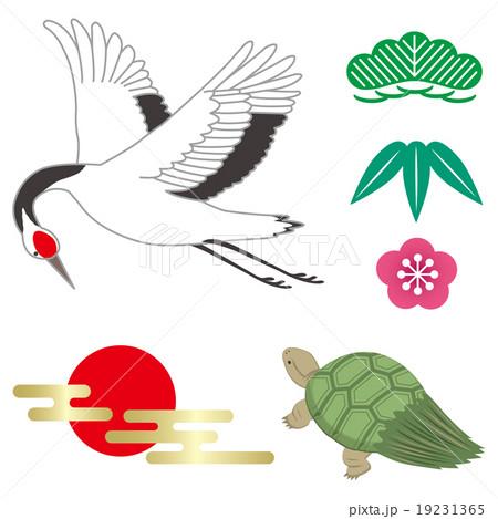 鶴と亀のイラスト素材 19231365 Pixta
