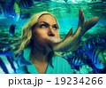 Woman eating fish 19234266