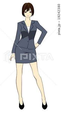 スーツ姿の女性のイラスト素材