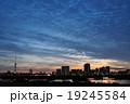 荒川 雲 夕景の写真 19245584