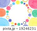 水彩 丸 模様 背景 19246231