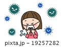 ウイルス 風邪 女の子のイラスト 19257282