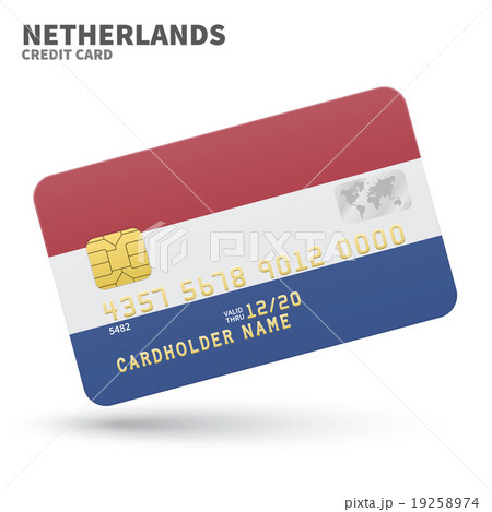 Credit card with Netherlands flag background for 19258974