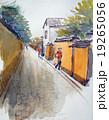 金沢の武家屋敷町のスケッチ画 19265056