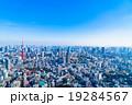 【東京】東京タワーと都市風景 19284567
