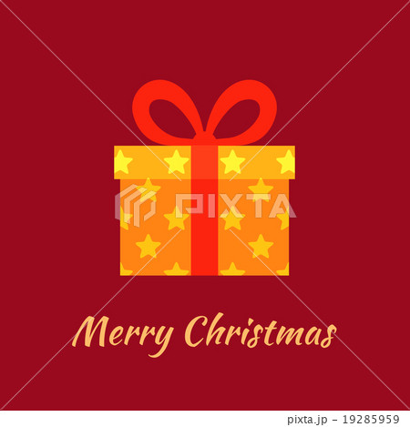 Merry christmas with gold gift 19285959 pixta merry christmas with gold gift negle Images
