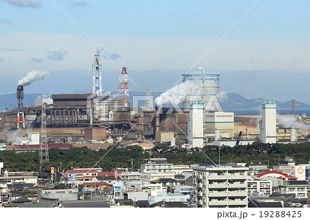 大分臨海工業地帯の写真素材 [19...