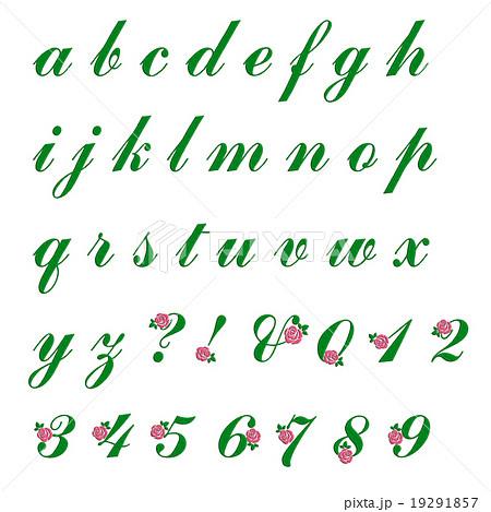 刺繍加工のアルファベット小文字 バラのイラスト素材 19291857 Pixta