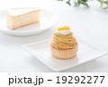 モンブランとチーズケーキ 19292277