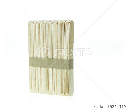 Pack of wooden stick isolated on white backgroundの写真素材 [19294599] - PIXTA