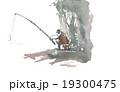 添景 人物 釣り 19300475