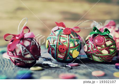 handmade christmas balls, filteredの写真素材 [19302107] - PIXTA