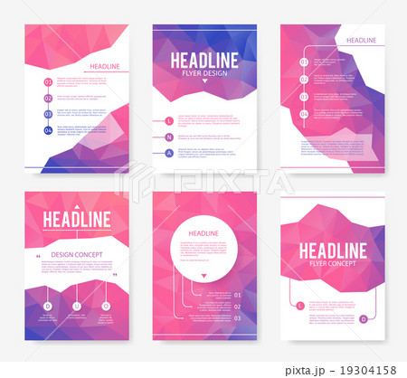 abstract brochure or flyer design templateのイラスト素材 19304158