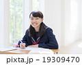 女の子 中学生 勉強の写真 19309470