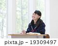 女の子 中学生 勉強の写真 19309497