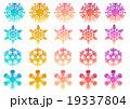 雪 雪の結晶 結晶のイラスト 19337804