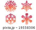 雪 雪の結晶 結晶のイラスト 19338306