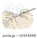 ネイル施術イラスト 19344686