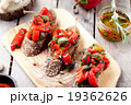 Italian bruschetta, crostini with roasted peppers 19362626