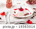 Panna cotta,with berry sauce. Italian dessert. 19363014