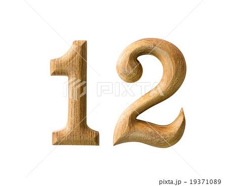 Wooden numericの写真素材 [19371089] - PIXTA