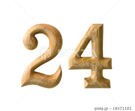 Wooden numeric 24の写真素材 [19371101] - PIXTA