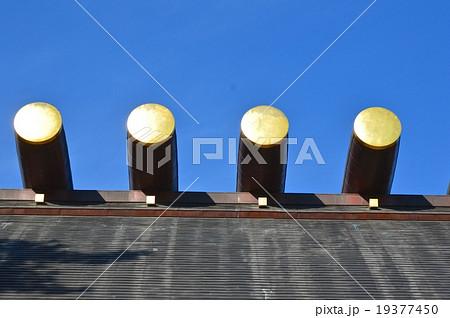 熱田神宮 本殿の屋根・鰹木(愛知県名古屋市熱田区) 19377450