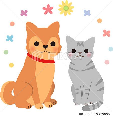 犬と猫ほのぼののイラスト素材 19379695 Pixta