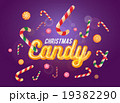 Cute christmas candy font and sweets set 19382290