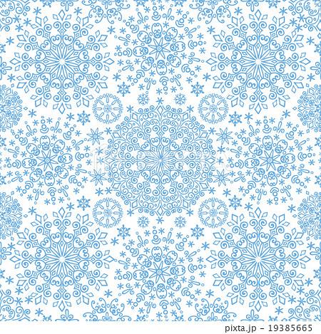 Snowflakes lace symmetry  seamless pattern 19385665