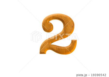 Number 2 golden teak woodの写真素材 [19390542] - PIXTA