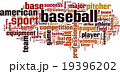 Baseball word cloud 19396202
