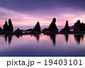 橋杭岩 夜明け 奇岩の写真 19403101