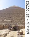ギザのピラミッドとロバ 19407702