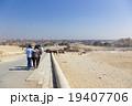エジプトギザ、ピラミッドからの街並み 19407706