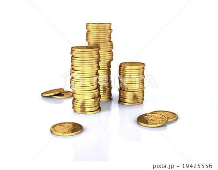 US dollar coins, artworkの写真素材 [19425556] - PIXTA