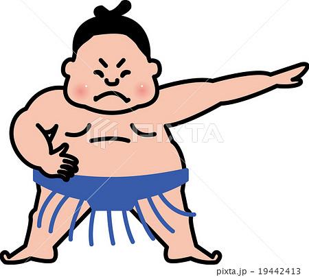 相撲 力士 すもうとりのイラスト素材 19442413 Pixta