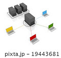 インターネット サーバー ネットワークのイラスト 19443681