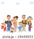 家族 人物 着物のイラスト 19449053